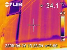赤外線サーモグラフィー使用例