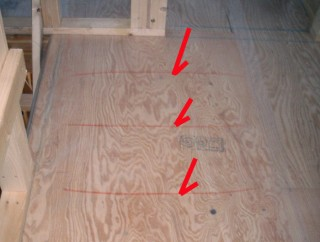 2階床合板釘
