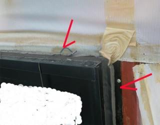 防水テープ未施工