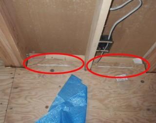 2階床合板釘未施工