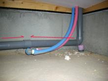 欠陥住宅を調査する建築士のブログ-配管逆勾配