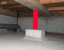 欠陥住宅を調査する建築士のブログ-床束