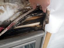 欠陥住宅を調査する建築士のブログ-サッシ雨漏り
