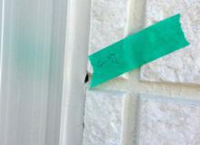 欠陥住宅を調査する建築士のブログ-シーリング穴