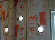 欠陥住宅を調査する建築士のブログ-防湿シート破れ