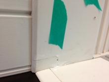 欠陥住宅を調査する建築士のブログ-枠傷