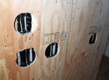 欠陥住宅を調査する建築士のブログ-耐力面材の穴