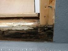 欠陥住宅を調査する建築士のブログ-サッシ漏れ